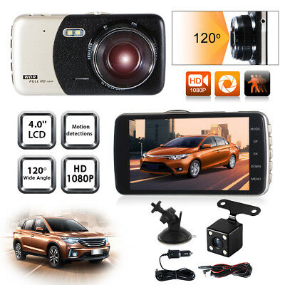 Dual Lens FHD 1080P Dash Cam Car DVR Video Recorder Front+Rearview Camera MA1024