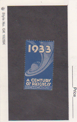 USA 1933 A Century of Progress, Chicago Poster Stamp In Blue