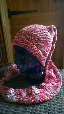 Hat Scarf, Unisex, Unique, Warm, Fun, Mix colour, New.