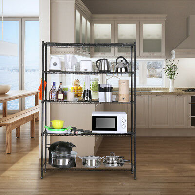 LANGRIA Home Kitchen Use 5-Tier Heavy Duty Extra Large Shelving Unit Waterproof