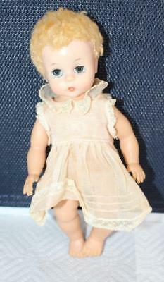 Vintage Madame Alexander Little Genius Doll Tagged Dress Caracul Wig