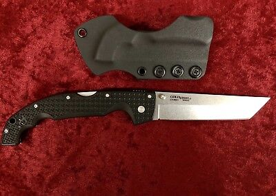 Cold Steel Xl Voyger Tanto  Cts Bd1 Knife With Custom Undertaker Sheath
