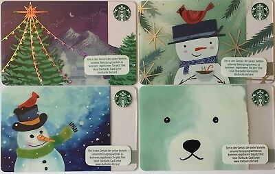 Starbucks Germany Gift Card 4x Winter Collection