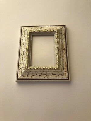 NEW Quality wooden ACEO Art /sports card 3.5 x 2.5 picture frame vintage/white