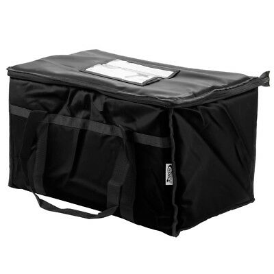 Insulated Food Delivery Bag / Pan Carrier, Black Nylon, 23'' x 13'' x 15''