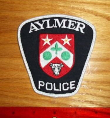 VINTAGE AYLMER  ONTARIO POLICE DEPT. PATCH obsolete,enforcement,security,Canada
