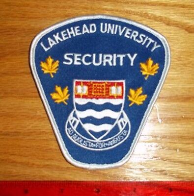 VINTAGE LAKEHEAD UNIVERSITY SECURITY PATCH ontario, obsolete,enforcement,police