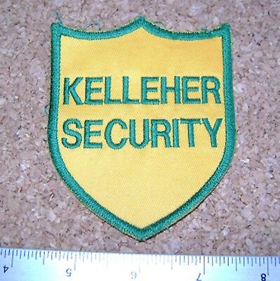 KELLEHER SECURITY PATCH Enforcement police security guard officer badge crest