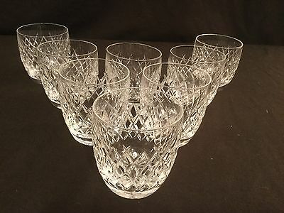Set Of 8 Waterford Crystal 9 Oz Old Fashioned Tumbler Glasses Boyne Pattern