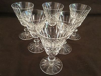 Set Of 6 Waterford Crystal Wine Glasses In The Tramore Pattern