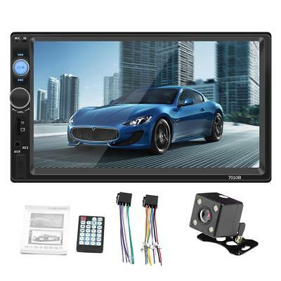 """Double 2 DIN 7"""" Car MP5 Player Stereo BT Radio Camera Head Unit for Android iOS"""