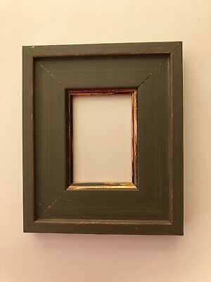 NEW Quality wooden ACEO Art/sports card 3.5 x 2.5 gray/gold picture frame