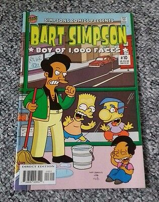 "501) Bart Simpson comic ""Boy of 1,000 faces"" #10"