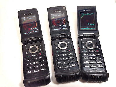 LOT OF 3 - Casio G'zOne Ravine 2 C781 Black (Verizon) - USED
