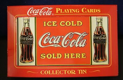 Coca-Cola Playing Cards in Collectible Tin 2000 Edition NIP
