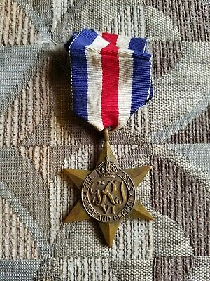Wwii Great Britain France And Germany Star, 100% Original.  1944 - 1945,  Look!