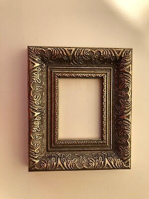NEW Luxury plastic ACEO Art/sports card 3.5 x 2.5 dark silver picture frame
