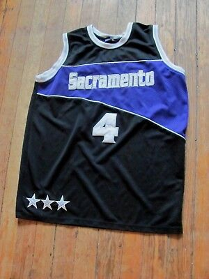 a8cd3775c63 Vintage Men s Nba Sacramento Kings Chris Webber Stitched Basketball Jersey  - Xxl