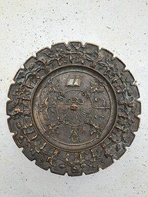 Odd Fellows Antique Metal Plate FLT IOOF FSE Fraternal Order Ceremonial Member