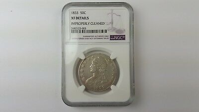 1833 Capped Bust Silver Half Dollar - NGC Certified XF Details