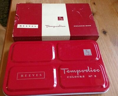 Vintage REEVES watercolour Set Tempodisc  No. 8 boxed : used once