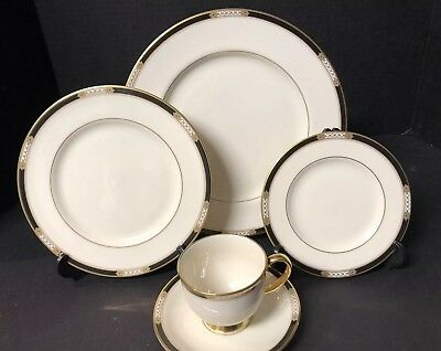 Lenox HANCOCK GOLD Presidential China Lot Of Four 5 Piece Place Settings