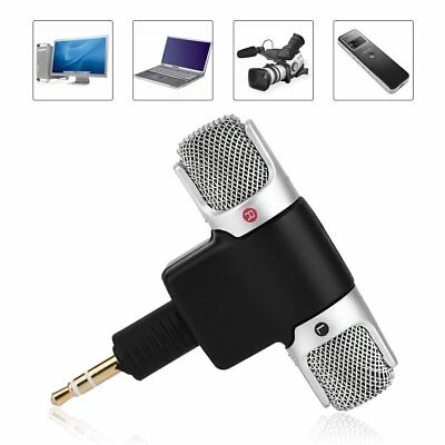Mini 3.5mm Microphone Stereo Mic For PC Laptop Tablet Recorder Karaoke Camera