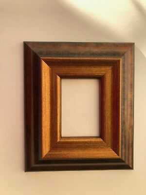 NEW Quality plastic ACEO Art/Sports card 3.5 x 2.5 gold/brown picture frame