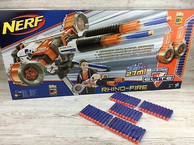 Nerf N-Strike Elite ~ Rhino-Fire ~ Motorized Blaster ~ 100x New Ammo ~ Brand New