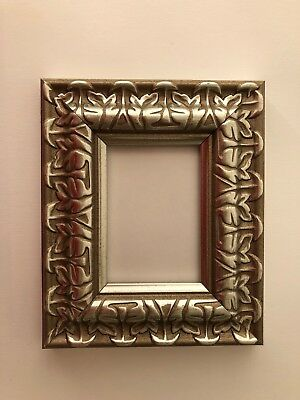 NEW Luxury plastic ACEO Art/Sports card 3.5 x 2.5 SILVER picture frame