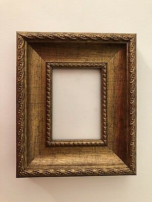 NEW Quality plastic ACEO Art/Sports card 3.5 x 2.5 brown picture frame