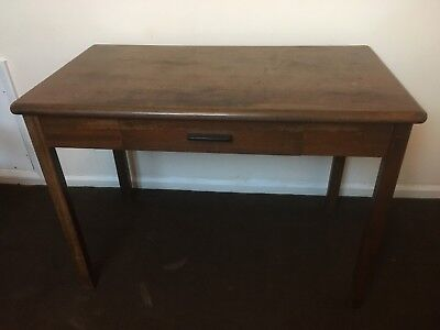 Vintage Abbess Desk - Beach/Oak - With one drawer
