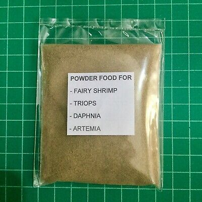 20G High Protein Powder Food For Feed Fairy Shrimp,triops,daphnia,artemia