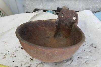 Vintage rustic cast iron water bowl