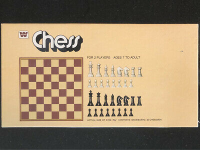 "Vintage Mid Century ""Weighted Chess Set, Gallant Knight RARE ed, Game w/ 3"" KING"