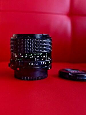 ✮ Canon new-FD 28mm f/2.0 lens ✮ comes with 2 caps ✮ nice and clean 28/2 nFD FDn