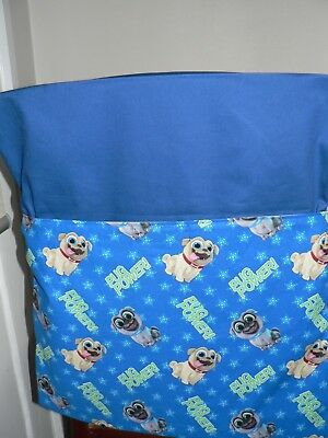 School Handmade Chair Bags First name Embroidered Free Pug Power Dogs Prints