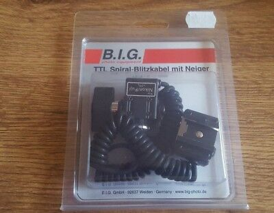Genuine B.I.G. coiled TTL cable for 1m for Nikon (423237). Brand new!Best Price!