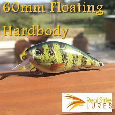 6cm Fishing lures Bream Trout Yellowbelly Bass Barra  Green Black Tackle