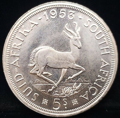 1953 South Africa 5 Shilling KM# 53