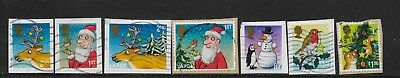 1) GB Stamps  2012 Christmas Full Set Good Used.