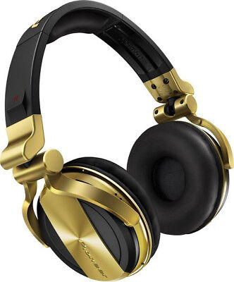 Pioneer HDJ-1500-N Professional DJ Monitoring Headphones Gold Finish Used