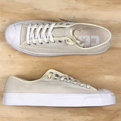 0ff529dd88521a Converse Jack Purcell Pro Signature Ox White Tan Low Top Casual Sneaker Size