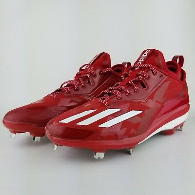 new arrival 04d8a a31c6 Adidas Boost Icon 2.0 Metal Baseball Cleats Black Red White Energy SZ  (  Q16525  )