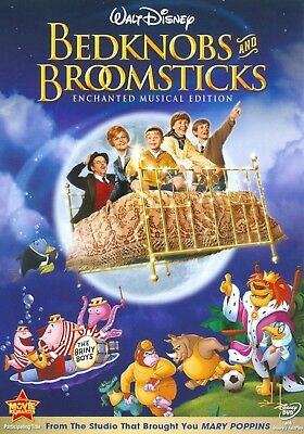 Bedknobs and Broomsticks 1971 G musical fantasy movie, new DVD, Angela Lansbury