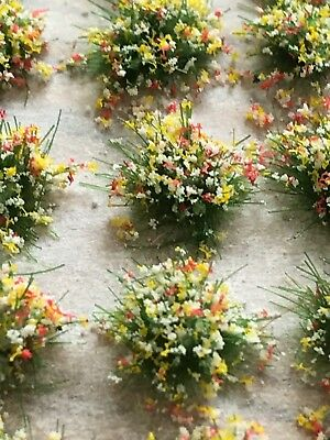 Self-Adhesive Static Grass Tufts Wild flowers 3mm high