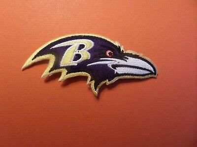 Baltimore Ravens Nfl Embroidered Iron On 2 X 4-3/8 Patch