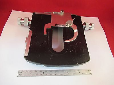 Wild Heerbrugg Swiss M20 Stage Table Micrometer Microscope Part As Is #f7-15