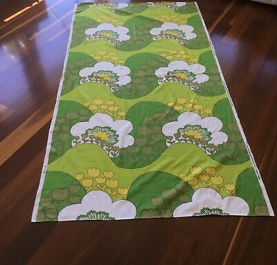 TABLECLOTH or FABRIC - 'sunrise' SCREEN-PRINT COTTON BY SHERIDAN - RETRO