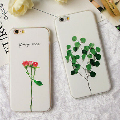 Cute Floral Pattern Rubber Soft TPU Silicone Case Cover For IPhone 8 X 6s 7 Plus